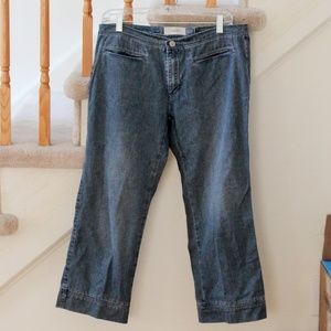 Light Wash Jean Capris